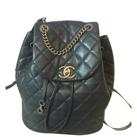 Chanel-Backpacks-Blue