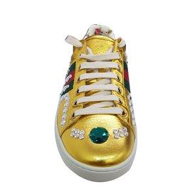 Gucci-Baskets-Doré
