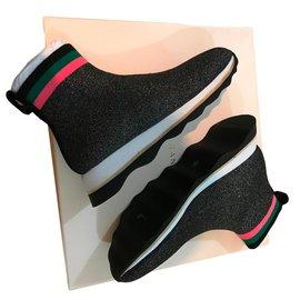 Loeffler Randall-sneakers-Black,Other