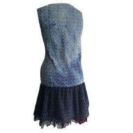 Miu Miu-Robes-Noir,Bleu