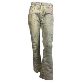 Just Cavalli-Pantalons-Marron,Beige