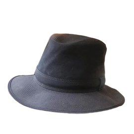 Hermès-Hats-Navy blue