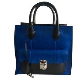 Balenciaga-work python blue electric-Black,Blue