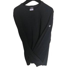 Chanel-t-shirt  manches longues-Noir