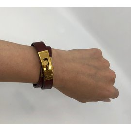 Hermès-Kelly Bracelet-Dark red