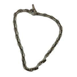 Hermès-Chaîne d'Encre necklace-Silvery