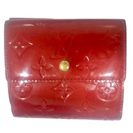 Louis Vuitton-porte monaie-Rouge