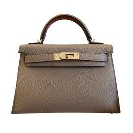 Hermès-Mini Kelly II-Grey
