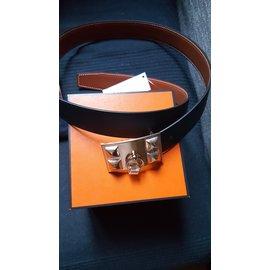 Hermès-Collier de chien-Noir