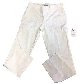 Hermès-Pants, leggings-Cream