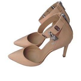 Sandales Pour Les Femmes À La Vente, De La Poudre Rose, Cuir, 2017, 36 Balmain
