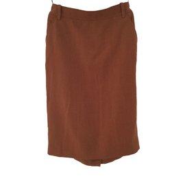 Hermès-Skirt-Brown