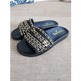 Chanel-Flats-Black