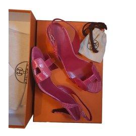 Hermès-Sandale night-Rose