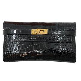 Hermès-Kelly Alligator-Schwarz