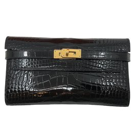 Hermès-Kelly Alligator-Noir
