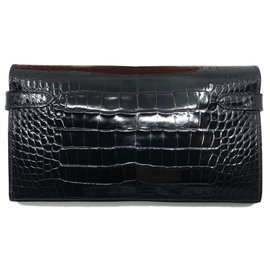 Hermès-kelly alligator-Black