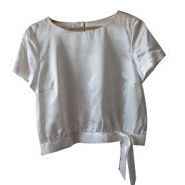 Autre Marque-Alouette T-Shirt satin blanc-Blanc ... c9601b6b10b3
