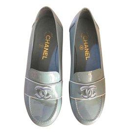 Chanel-Flats-Blue