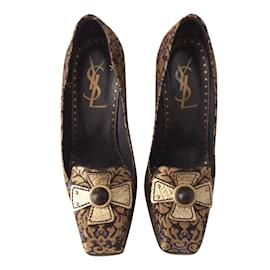 Yves Saint Laurent-Mocassins-bronze