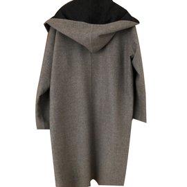 Hermès-Manteau peignoir-Gris