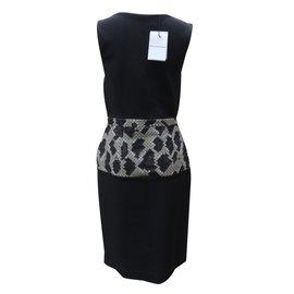 Balenciaga-Dresse-Black,Beige,Cream