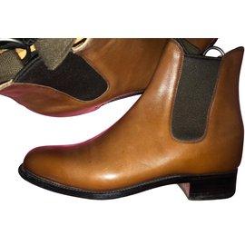 JM Weston-boots-Brown