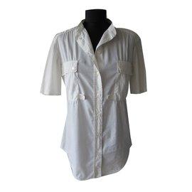 Yves Saint Laurent-Chemise-Blanc cassé