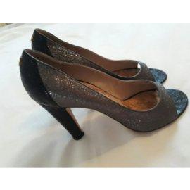Chanel-Heels-Dark grey