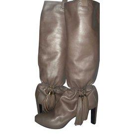 Céline-boots-Beige