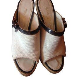 Louis Vuitton-Mules compensées-Blanc