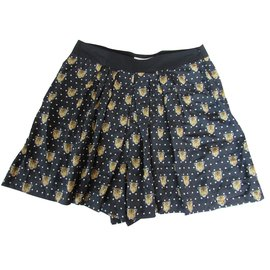 Sandro-Short-Marron,Noir
