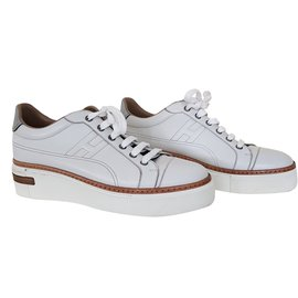 Hermès-Polo Sneakers-White