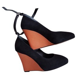 Céline-Wedge heels-Black