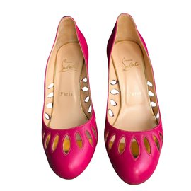 Christian Louboutin-Escarpins-Rose