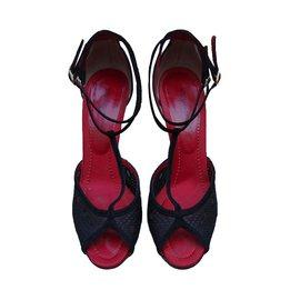 Dolce & Gabbana-Sandales-Noir,Rouge