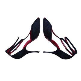 Dolce & Gabbana-sandals-Black,Red