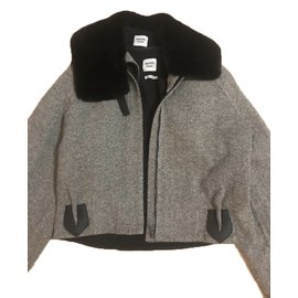 Hermès-Jacket-Grey,Dark brown