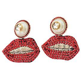 Gucci-Boucles d'oreilles-Rouge
