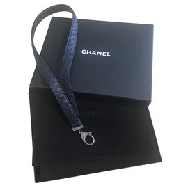 Chanel-Bag charms-Navy blue