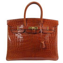 Hermès-birkin 35-Marron