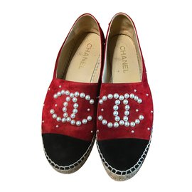 Chanel-Espadrilles-Red