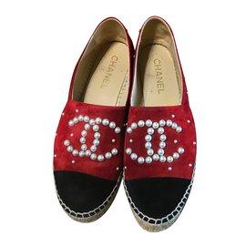 Chanel-Espadrilles-Rouge
