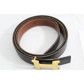 Hermès-belt-Black,Dark brown