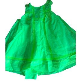 Baby Dior-Robe fille-Jaune