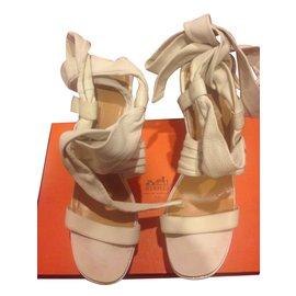 Hermès-Sandales-Blanc
