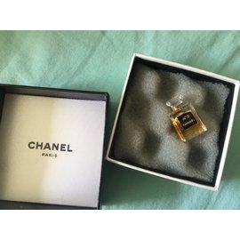 Chanel-Broche flacon Chanel N5-Doré