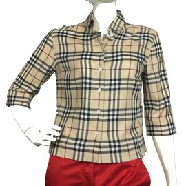 Burberry-Check print shirt-Multiple colors