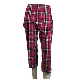 Burberry-PLaid cropped pants-Multiple colors