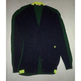 Céline-Pulls, Gilets-Vert,Bleu Marine